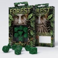 Q-Workshop - Forest 7-die RPG Dice Set (Green & Black)