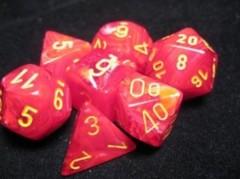 7-die Polyhedral Set - Vortex Red with Yellow - CHX27444