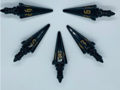PolyHero Dice - The Rogue: Level Up Pack 5d6 Swords (Nightshade & Thieves' Gold))