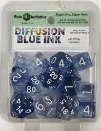 Role 4 Initiative - Diffusion Blue Ink with White Set of 15