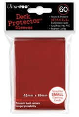 Ultra Pro - Solid Red 60 Count Mini Sleeves (82967)