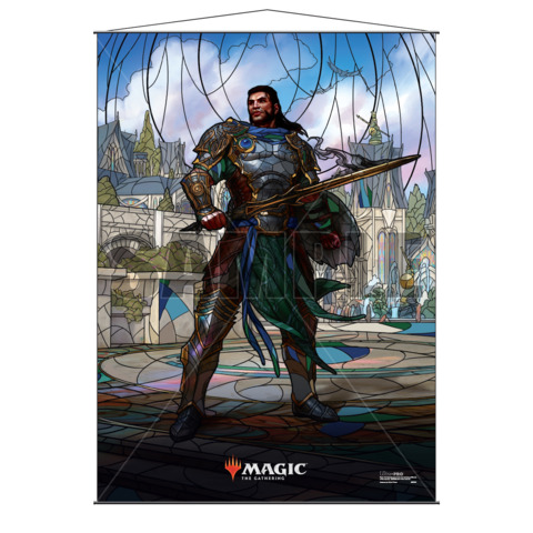 Ultra Pro - Stained Glass Planeswalkers Wall Scroll - Gideon (18180)