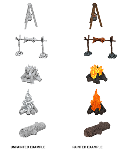 Camp Fire & Sitting Log (73860)