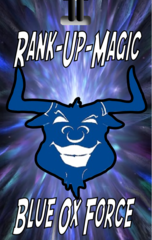 Rank-Up-Magic Blue Ox Force Bag Tag