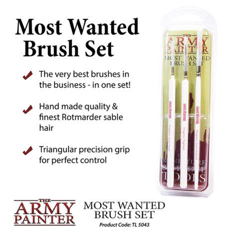 Army Painter - Most Wanted Brush Set (TL5043)