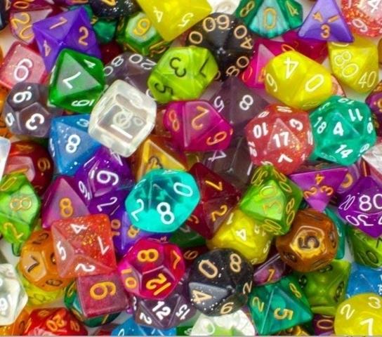 7 Die RPG Set w/dice bag