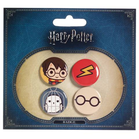 Harry Potter - Harry Potter and Hedwig Button Set