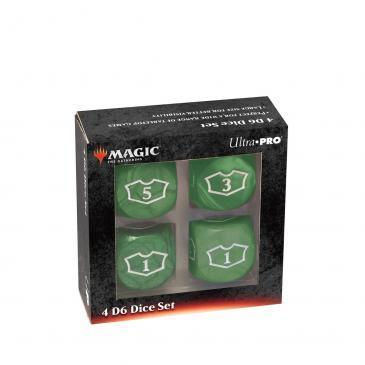 Ultra Pro - Magic: The Gathering 22MM Loyalty Dice Set: Green Mana (86830)