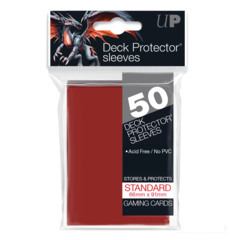 Ultra Pro - Solid Red 50 Count Standard Sleeves (82672)
