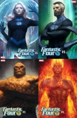 Fantastic Four (2018) #1 Artgerm Variant Bundle