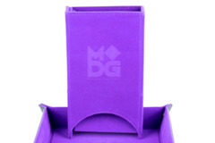 Metallic Dice Games - Velvet Folding Dice Tower (Purple)