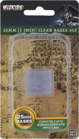 25 MM (1 Inch) Clear Bases x15 (73594)