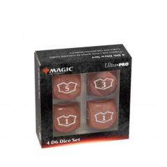 Ultra Pro - Magic: The Gathering 22MM Loyalty Dice Set: Red Mana (86829)