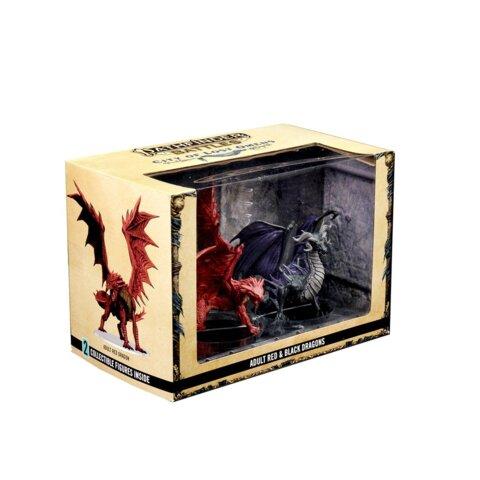 Pathfinder Battles: City Of Lost Omens Premium Figure – Adult Red & Black Dragons