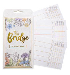 Bridge Scorecards, 75 Pack
