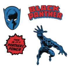 Black Panther Enamel Lapel Pin Set