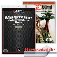 BCW - Magazine Polypropylene Bag (Resealable)