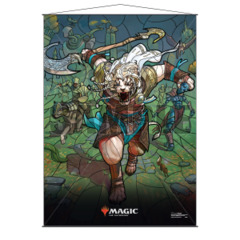 Ultra Pro - Stained Glass Planeswalkers Wall Scroll - Ajani (18175)