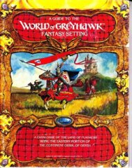 1st Edition (Advanced D&D) - World of Greyhawk Fantasy Setting (Acceptable)