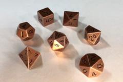 7-die Polyhedral Set - Solid Metal Old Brass Color - CHX27023