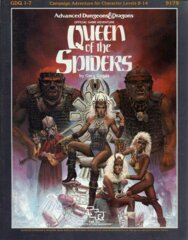 1st Edition (Advanced D&D) - GDQ1-7 Queen of the Spiders Adventure (Acceptable)