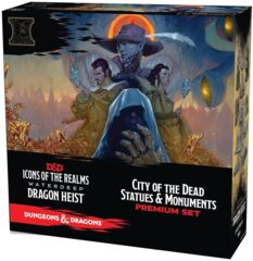Icons of the Realms - Waterdeep Dragon Heist Premium Set - City of the Dead Statues & Monuments