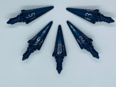 PolyHero Dice - The Rogue: Level Up Pack 5d6 Swords (Midnight Blue & Silver Starlight)