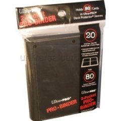 Ultra Pro - 2-Pocket PRO-Binder Black (84036)