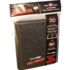 Ultra Pro - 2-Pocket PRO-Binder Black (84036)