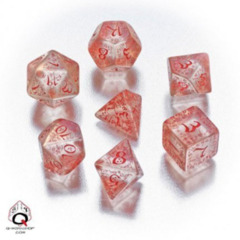 Q-Workshop - Elvish RPG Dice Set (Translucent Red)