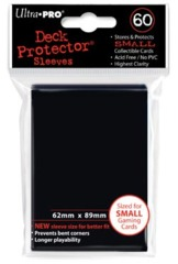 Ultra Pro - Solid Black 60 Count Mini Sleeves (82964)