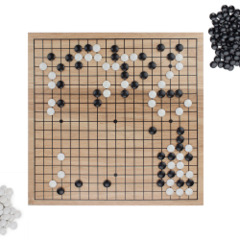 Go Set with Wooden Board and Complete Set of Stones