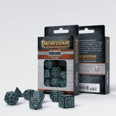 Q-Workshop - Pathfinder Iron Gods 7-die RPG Dice Set