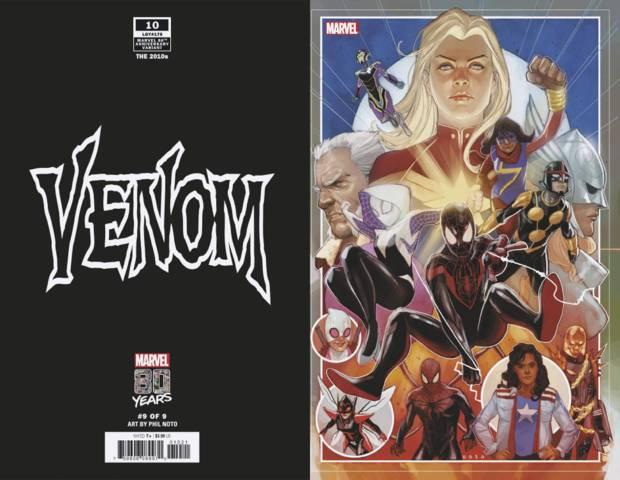 Venom (2018) #10 (Noto Marvel 80th Variant) - Comic Books, Manga