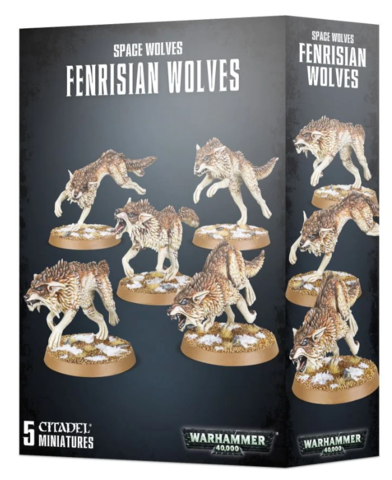 Space Wolves - Fenrisian Wolf Pack / Wolves (53-10) Kill Team Ready!