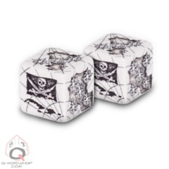 Q-Workshop: Pirate Dice d6 (2 count)