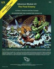 1st Edition (Advanced D&D) - U3 The Final Enemy Module (Acceptable)
