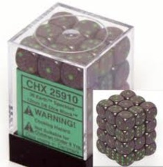 36 D6 Dice Block - 12mm Speckled Earth - CHX25910