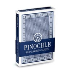 Brybelly - Brybelly Standard Pinochle Cards Wide Size Regular Index Deck (Blue)