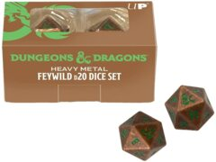 Ultra Pro - Dungeons & Dragons Feywild Heavy Metal Dice D20 Set (2-Dice) (18782)