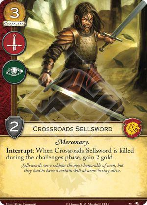 Crossroads Sellsword - WotN - Game of Thrones 2e LCG Singles