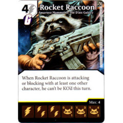 Rocket Raccoon - Smartest Mammal In The D'ast Galaxy (Die & Card Combo)