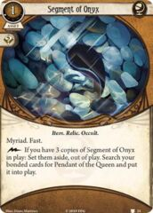 Segment of Onyx (1) / Pendant of the Queen - Bundle of 4 Bonded Cards
