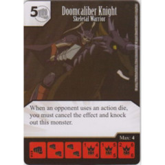 Doomcaliber Knight - Skeletal Warrior (Die & Card Combo)