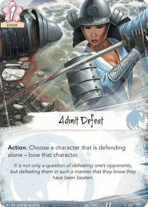 Admit Defeat