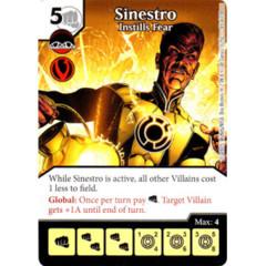 Sinestro - Instills Fear (Die & Card Combo Combo)