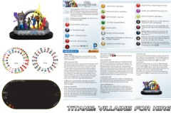 Heroclix Titans: Villains for Hire (T003) NO MINIS team base/dial/map only Teen Titans