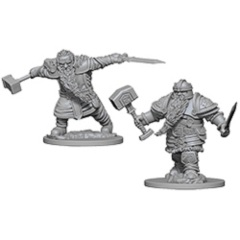 D&D Nolzur's Marvelous Unpainted Minis: Dwarf Male Fighters (pack of 2)