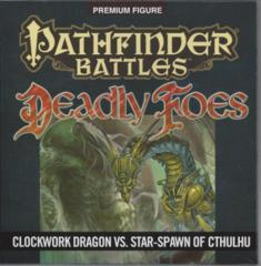 Pathfinder Battles: Clockwork Dragon vs. Star Spawn of Cthulhu Deadly Foes promo miniatures
