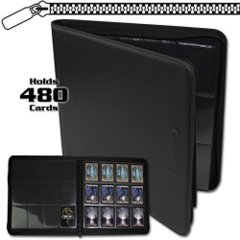 BCW: BLACK 12 pocket 480-card playset zippered LX binder